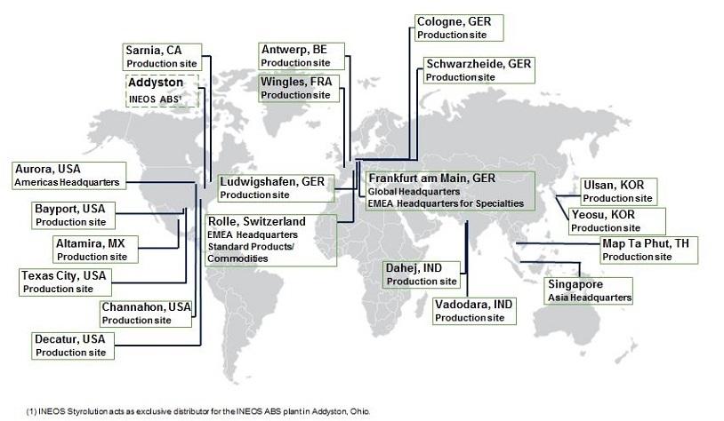 INEOS Styrolution Locations